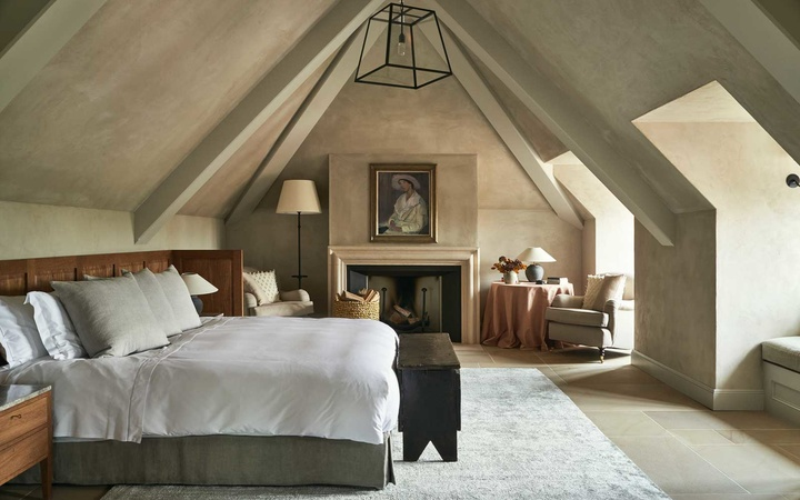 Guest room at Heckfield Place