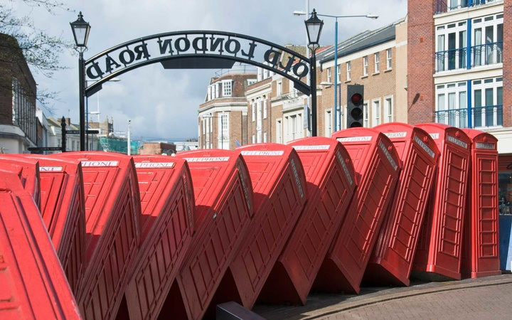 Kensington, London, UK, Out of Order Sculpture by David Mach in 2008