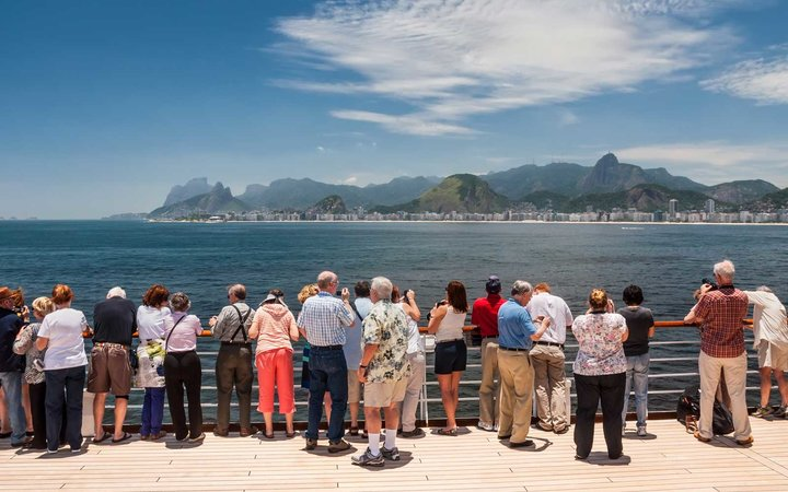Passengers on a cruise ship in Brazil
