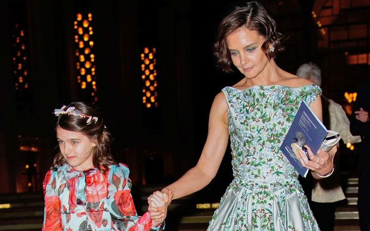 Katie Holmes and Suri Cruise enjoy a night at American Ballet Theater at Lincoln Center