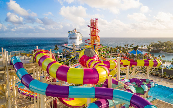 Waterslides at Perfect Day at Coco Cay