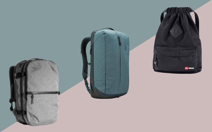 Backpacks with shoe compartments