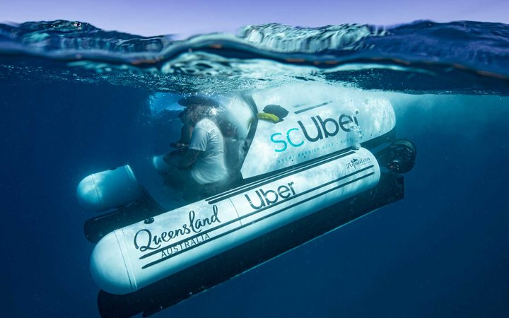 Uber brings a submarine to Australia's Great Barrier Reef
