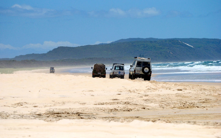 Queensland beach driving
