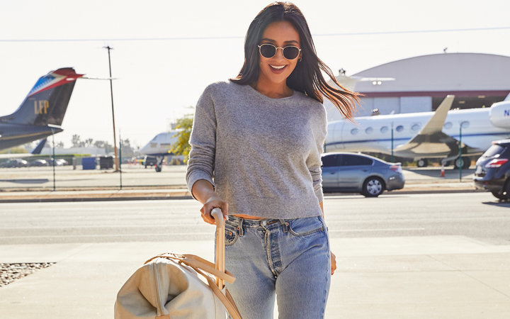 Shay Mitchell's New Béis Luggage Launch