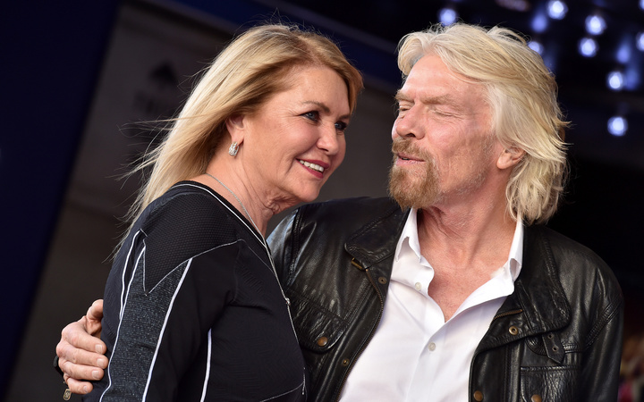 Richard Branson and his wife, Joan Templeman