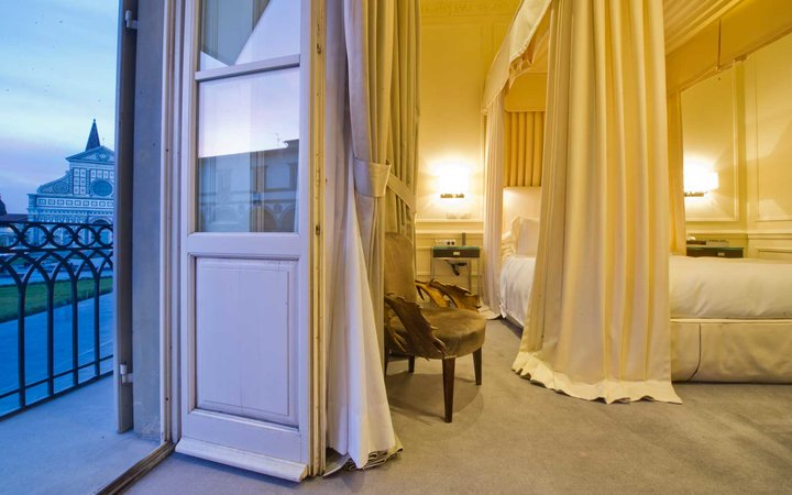 Room at the JK Place Firenze Hotel in Florence, Italy