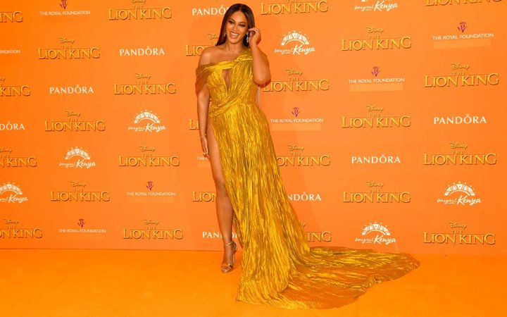 Beyonce Knowles-Carter at Lion King Premiere in London