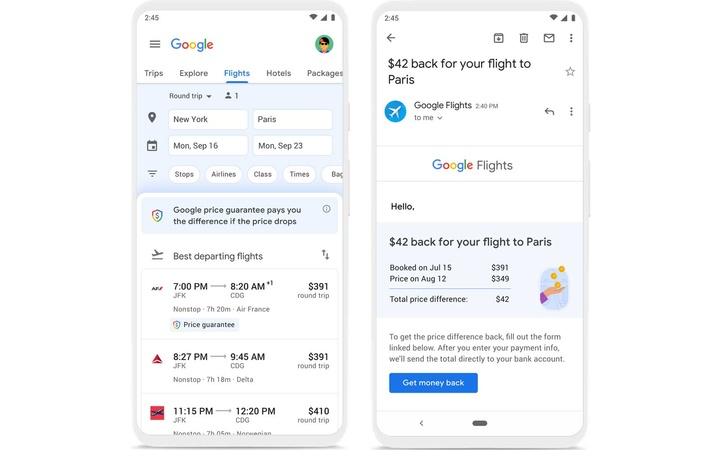 Savings for Google Flights