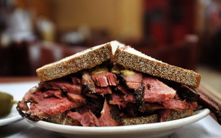 Pastrami sandwich at Katz's Deli