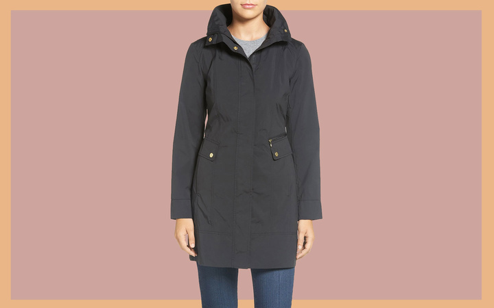 Back Bow Packable Hooded Raincoat