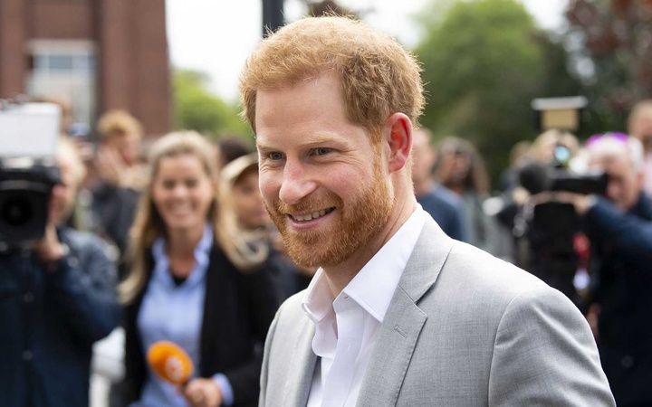 Prince Harry arrives at ADAM Tower, Amsterdam