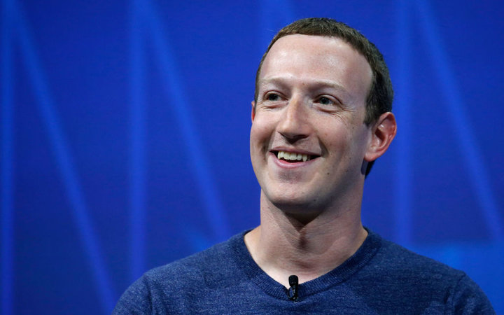 Facebook's founder and CEO Mark Zuckerberg speaks to participants during the Viva Technologie show at Parc des Expositions Porte de Versailles