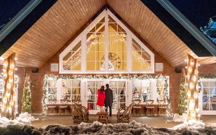 Hallmark Christmas movie home