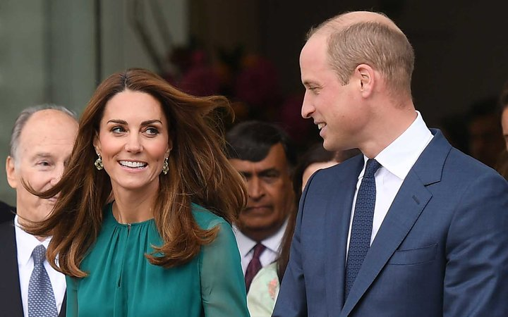 Britain's Prince William, Duke of Cambridge and his wife Britain's Catherine, Duchess of Cambridge leave the Aga Khan Centre in London on October 2, 2019.
