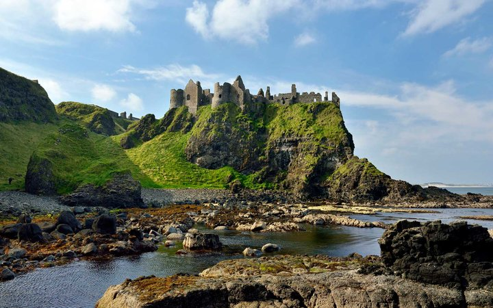 Ireland, Ulster, County Antrim, Bushmills: Dunluce Castle, Pyke Castle, Iron Islands, in the TV series Game of Thrones