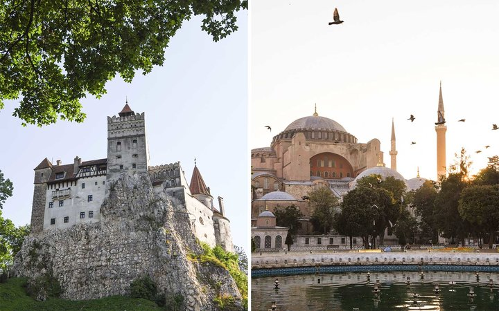 Bran Castle and Hagia Sophia