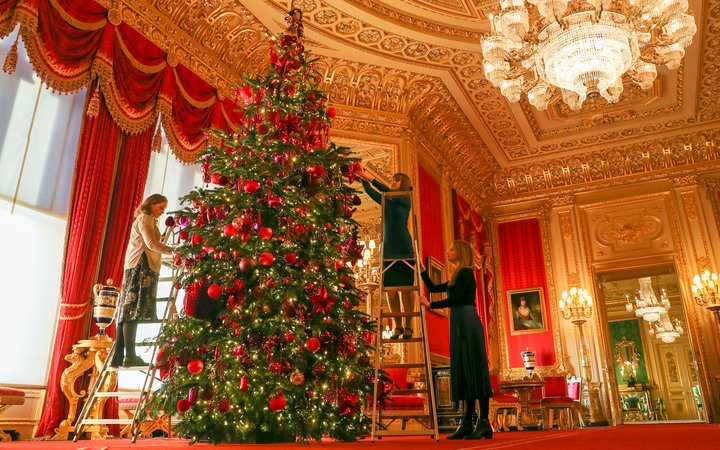 Windsor Castle Christmas Tree