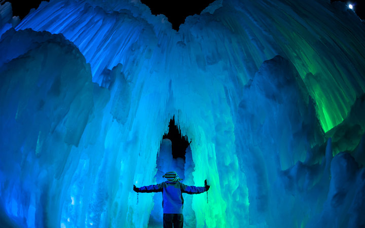 Kid at Ice Castle