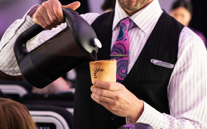Air NZ edible cups