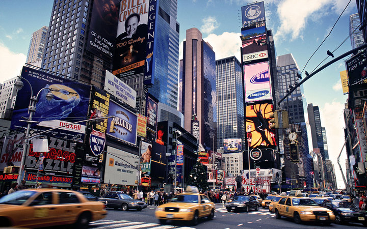 top tourist attractions in usa Times Square, New York City