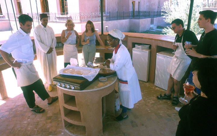 student chefs at Rhode School of Cuisine at Dar Liqama, Marrakesh, Morocco