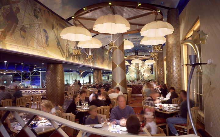 dining room at Flying Fish Café, Disney's BoardWalk