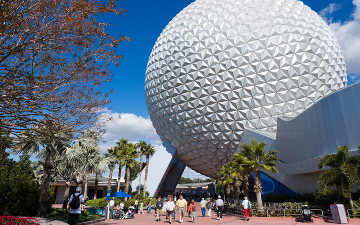World's Most-Visited Tourist Attractions: Epcot, Walt Disney World Resort, Lake Buena Vista, FL