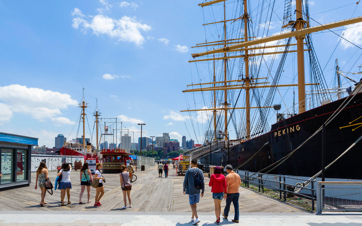 World's Most-Visited Tourist Attractions: South Street Seaport, New York City