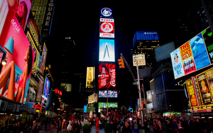 World's Most-Visited Tourist Attractions: Times Square, New York City