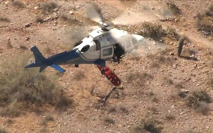 Dramatic Video Shows Moment Helicopter Rescue Mission Turned Into Scary Out-of-Control Ride for...