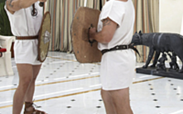 Courtesy of The Rome Cavalieri Hilton's Gladiator Training Program Courtesy of The Rome Cavalieri Hilton's Gladiator Training Program