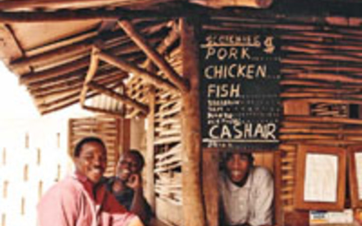 Noe DeWitt Scotchies, a food stand in Jamaica.