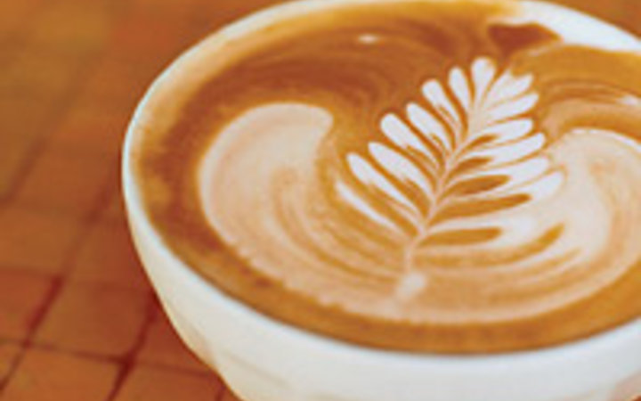 Kate Powers A latte from San Francisco's Blue Bottle Coffee Co.