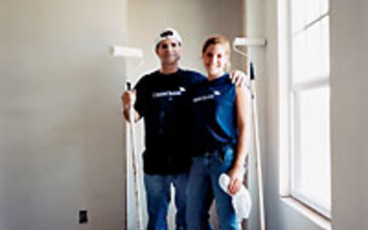 David Nicolas Volunteers with Credit Suisse New York join Habitat for Humanity to help rebuild and paint houses for hurricane victims in New Orleans.