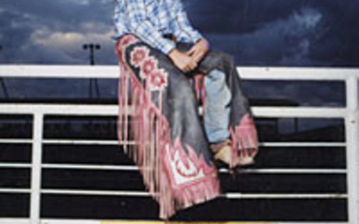 Martha Camarillo Jeffrey Gideon, age 14, at the Cody night rodeo