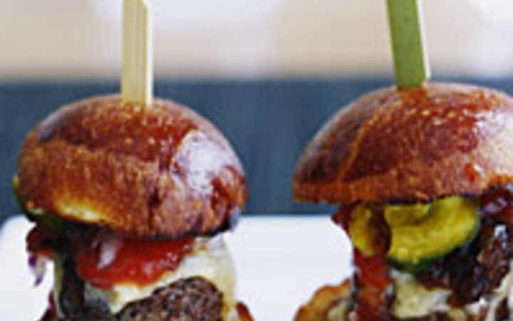 John Kernick Kobe-beef sliders at Cut