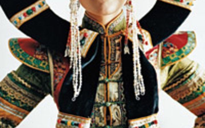 Frédéric Lagrange A woman in traditional Mongolian dress at a beauty pageant