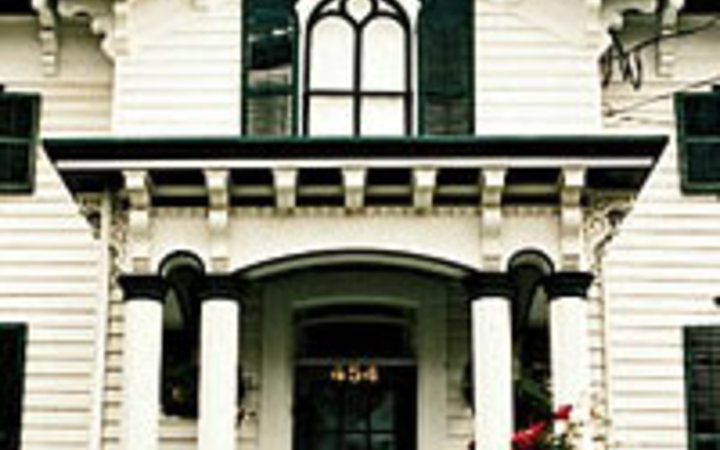 Whitney Lawson An example of the historic buildings found on or near Warren Street, in Hudson, New York.