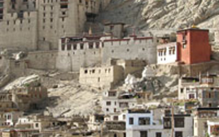 Courtesy of The Tibet Heritage Fund The historic Himalayan city of Leh, in northern India, now being restored by the Tibet Heritage Fund.