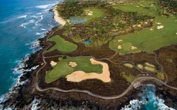 golf course on the coast at Four Seasons Resort Hualalai at Historic Ka'upulehu, HI