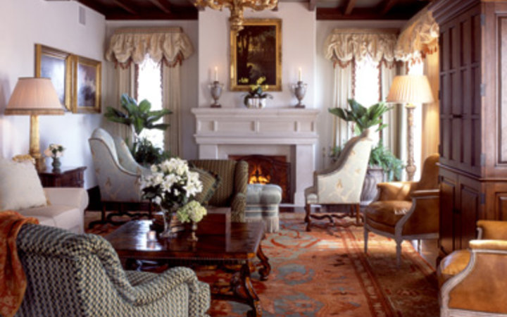 guest lounge at the Cloister hotel in Sea Island, GA