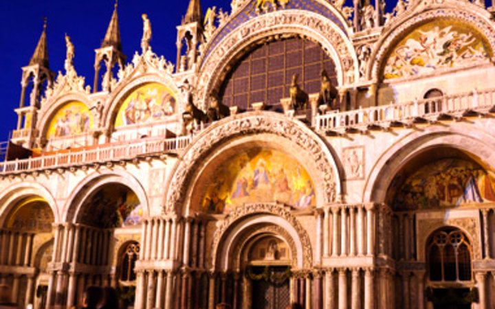 entrance of St. Mark's Basilica in Venice, Italy