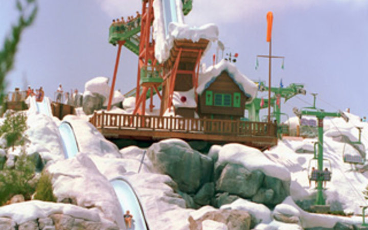 Mount Gushmore's Summit Plummet waterslide, Blizzard Beach at Walt Disney World