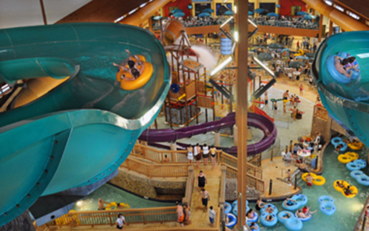 waterslide at Wilderness Resort waterpark, Wisconsin Dells, WI