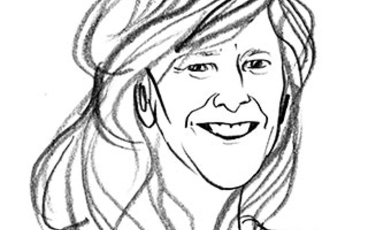 sketch of Cari Gray, founder of Gray & Co. tour company