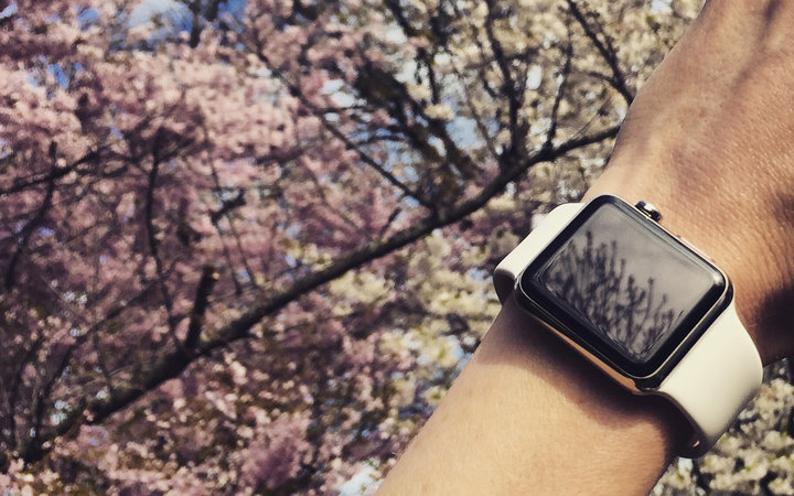 Apple watch with Cherry Blossoms