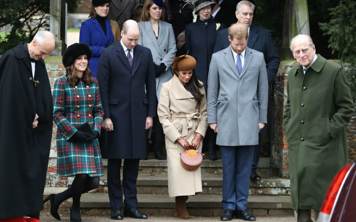 Meghan Markle curtsies to Queen Elizabeth on Christmas