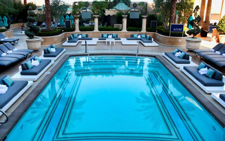 Azure pool the palazzo travel leisure for Pool show las vegas november