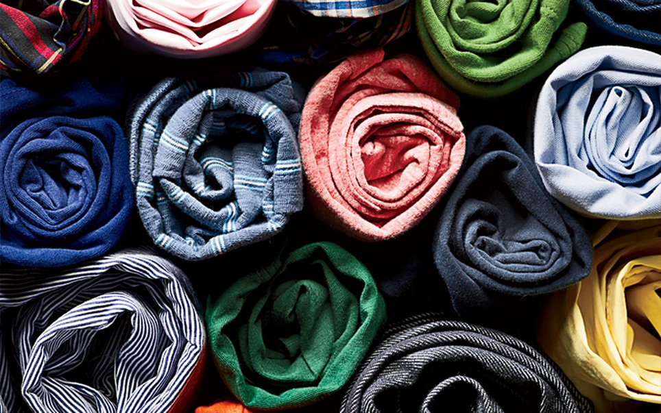 rolled clothes